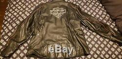 Womens harley davidson leather jacket size 2w