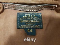 Ww2 Eastman A2 Horsehide Pearl Harbour Flying Flight Pilot Leather Jacket Uk44