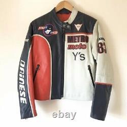Yohji Yamamoto X Dainese 2004 Rare Cafe Racer Leather Moto Biker Jacket