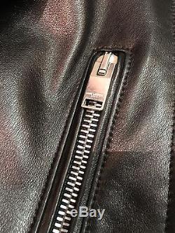 Ysl Saint Laurent Paris L01 Perfecto Classic Moto Jacket Sz 44