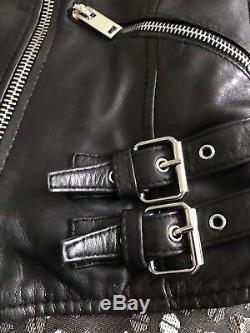 Zara Moto/biker Genuine Leather Jacket With Padded Shoulder. Size S. Sold Out